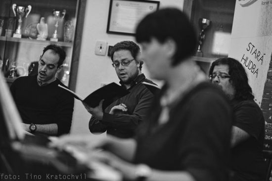 Czech Ensemble Baroque rehearsing part of church choir